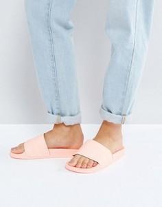 Сандалии без застежек тусклого кораллового цвета adidas Originals - Розовый