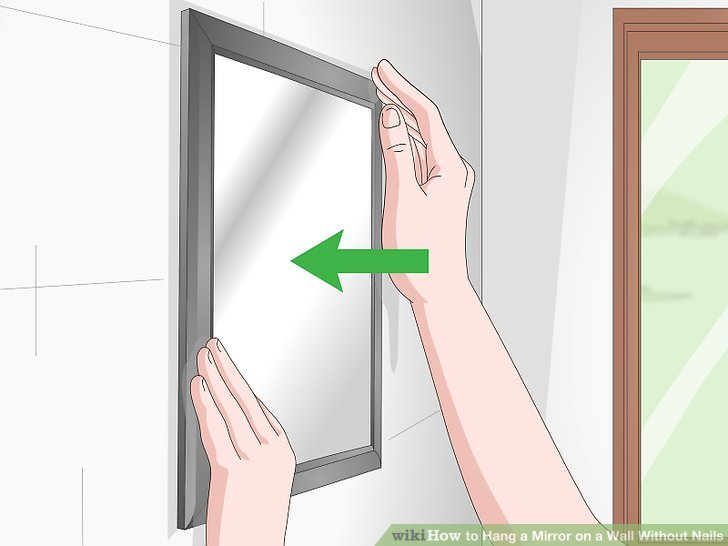 Image titled Hang a Mirror on a Wall Without Nails Step 3
