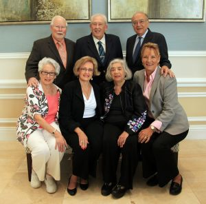 COBWRA Past Presidents, sitting (l-r): Barbara Katz, Dagmar Brahs, Sandra Greenberg; standing (l-r): Ken Lassiter, Stuart Caine, Lewis Doctor