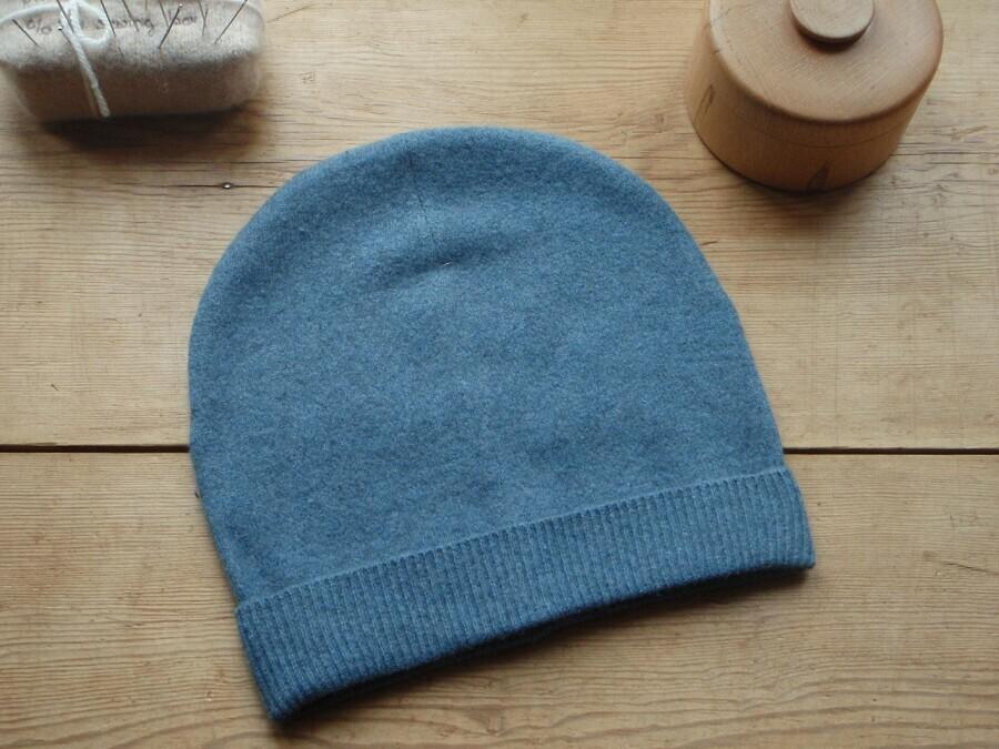Трикотажная шапка женская своими руками