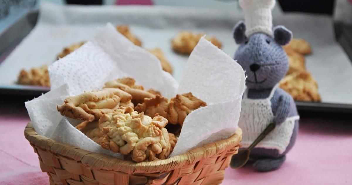 Печенье творожное через мясорубку