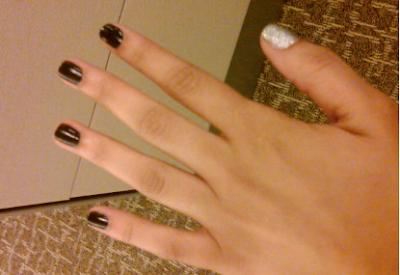 Blackberry bling nails