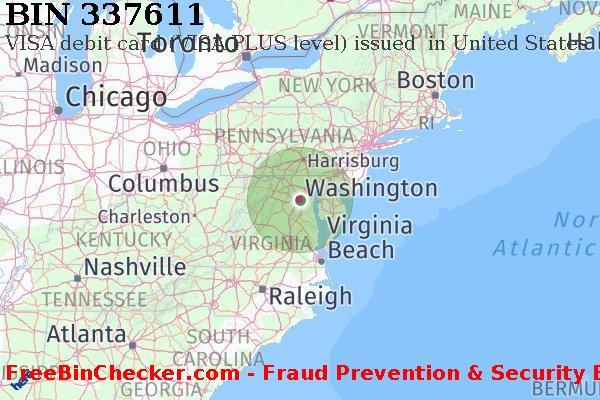 337611 VISA debit United States US BIN List