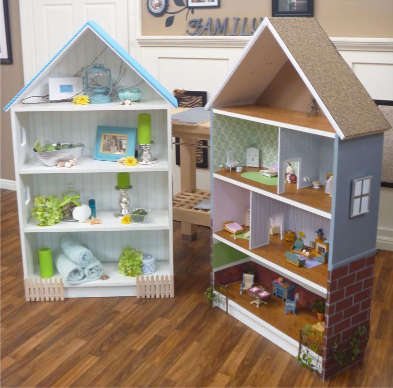 Кукольный домик из книжного шкафа Билли от Икеа