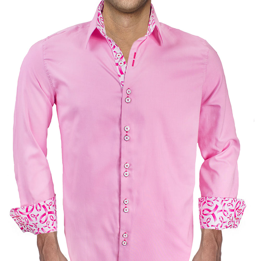 Mens pink shirts for breast cancer