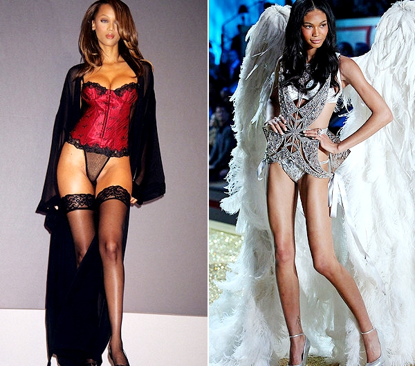 Tyra banks at 17 and size 4