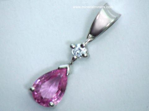 Genuine pink sapphire earrings