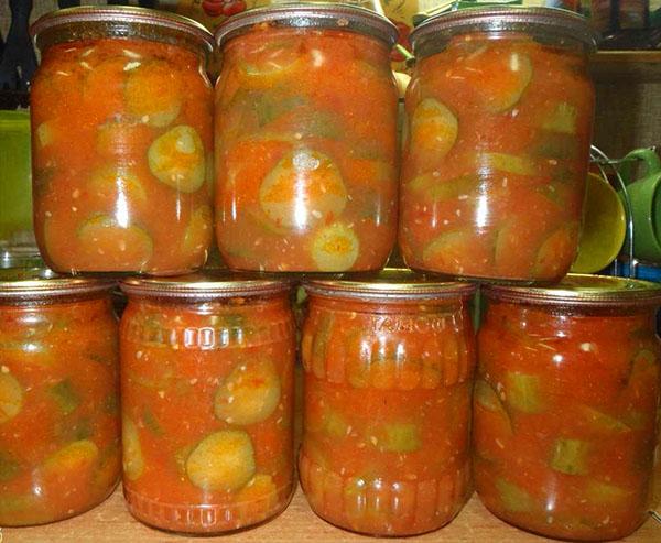 Рецепт огурцов в томатном соке на зиму