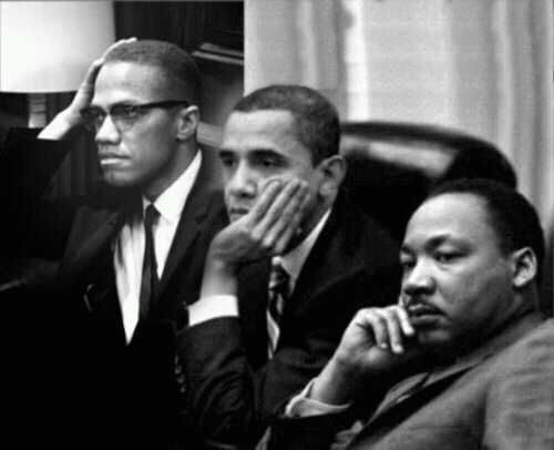 Pictures of martin luther king jr and barack obama