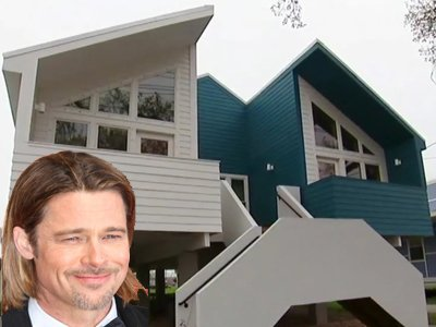 Lower ninth ward brad pitt houses