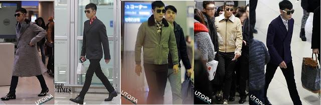 Korean celebrities airport fashion