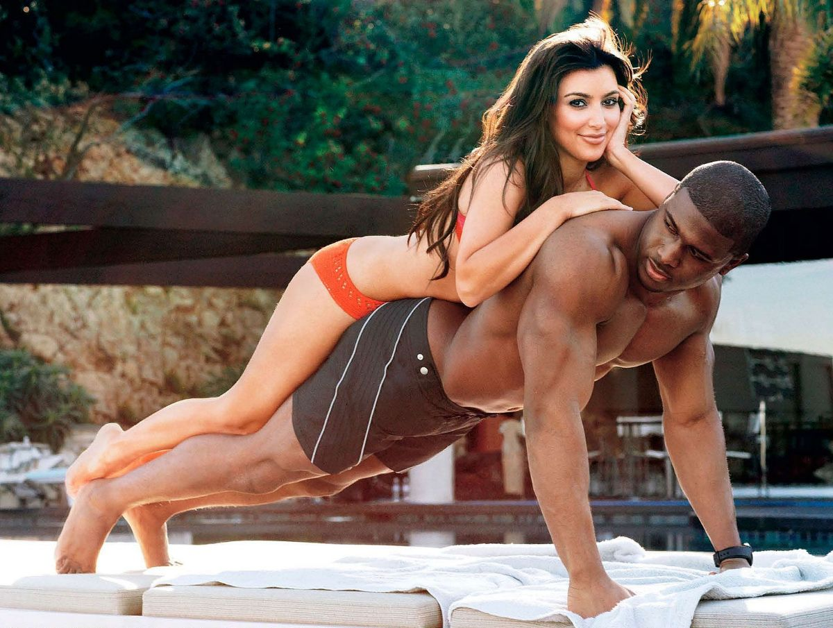 Reggie bush and kim kardashian kissing