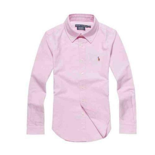 Womens pink button up shirt