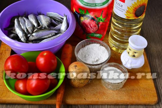 Килька в томате в домашних условиях рецепт с фото на зиму
