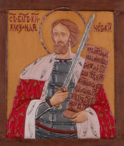 Святой благоверный князь Александр Невский. Икона 3