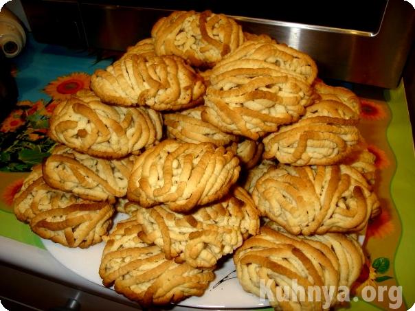 Печенье через мясорубку из майонеза