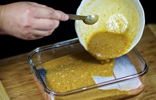 Зальем рыбку приготовленной маринадной смесью
