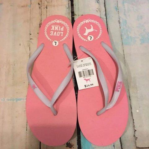 Victoria secret love pink flip flops