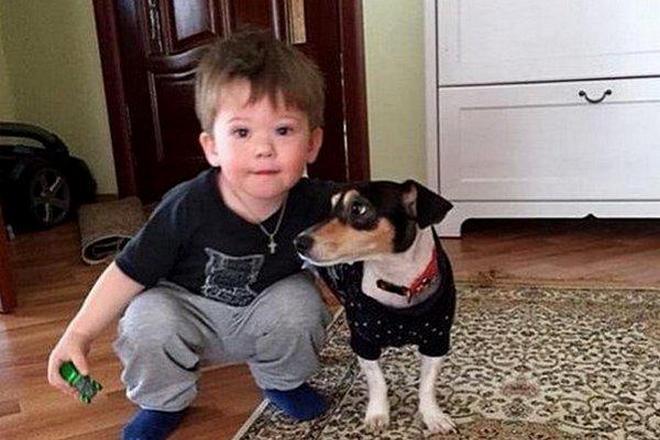Платон Шепелев с собакой