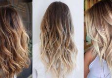 Выгоревшие пряди окрашивание волос