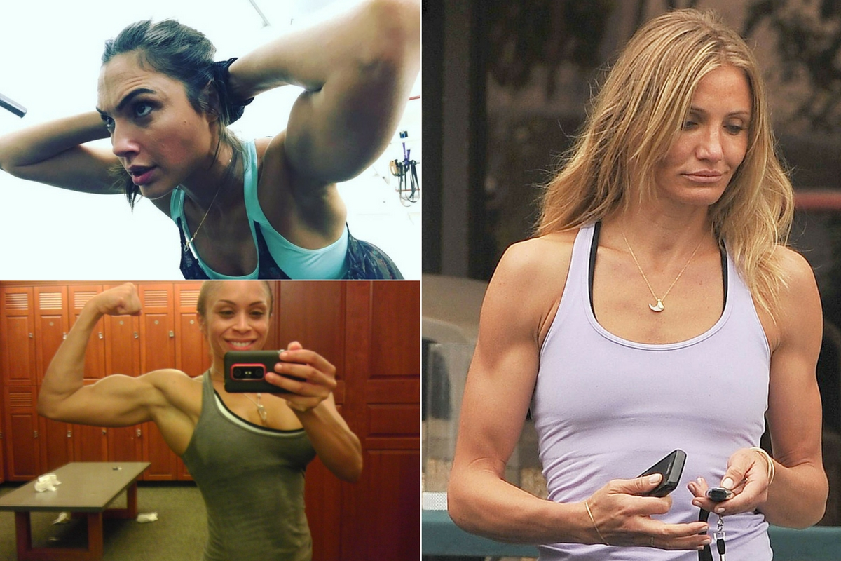 Female celebrities muscles