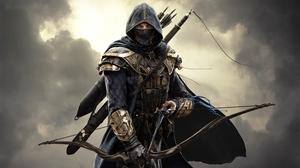 Превью обои the elder scrolls online, меч ночи, воин, ассасин, assassin, убийца