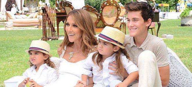 Селин дион и ее дети фото