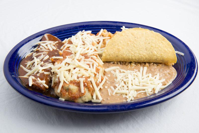 18. Chile Relleno and Taco