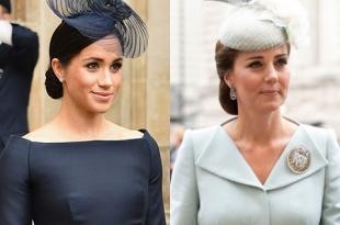 Меган Маркл и Кейт Миддлтон в Вестминстере: разбираем образы герцогинь