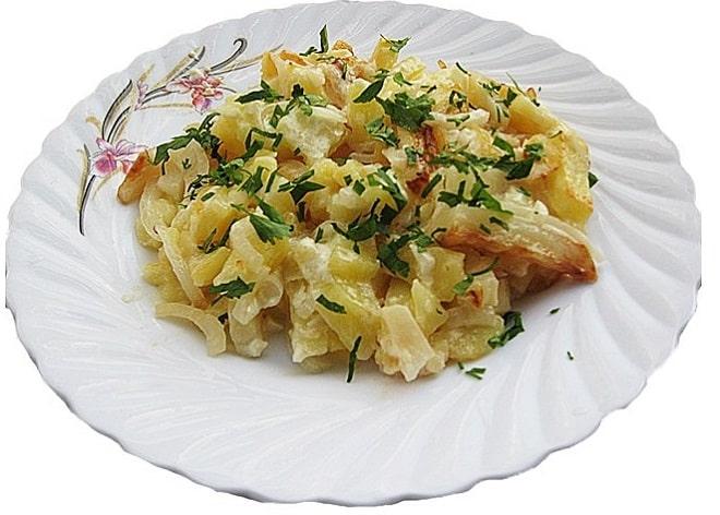 Картошка с сметаной