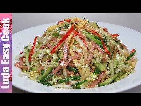 Салат с кунжутом и курицей