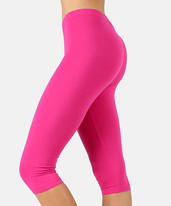 Pink capri leggings for women
