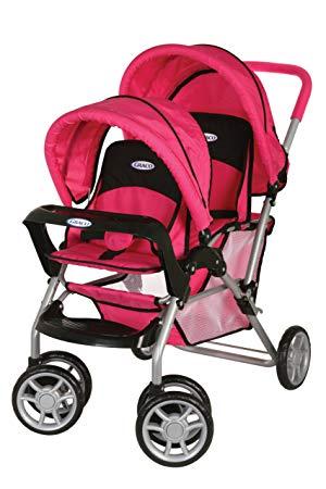 Graco duoglider dolls twin stroller hot pink