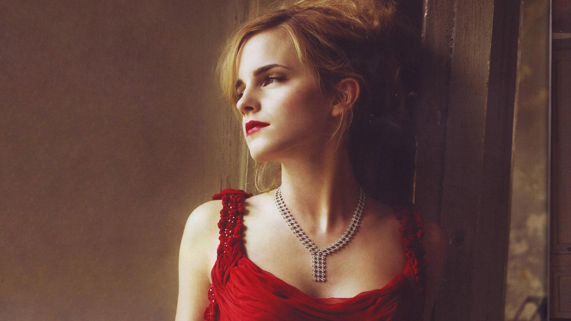 Emma Watson Hot in Red