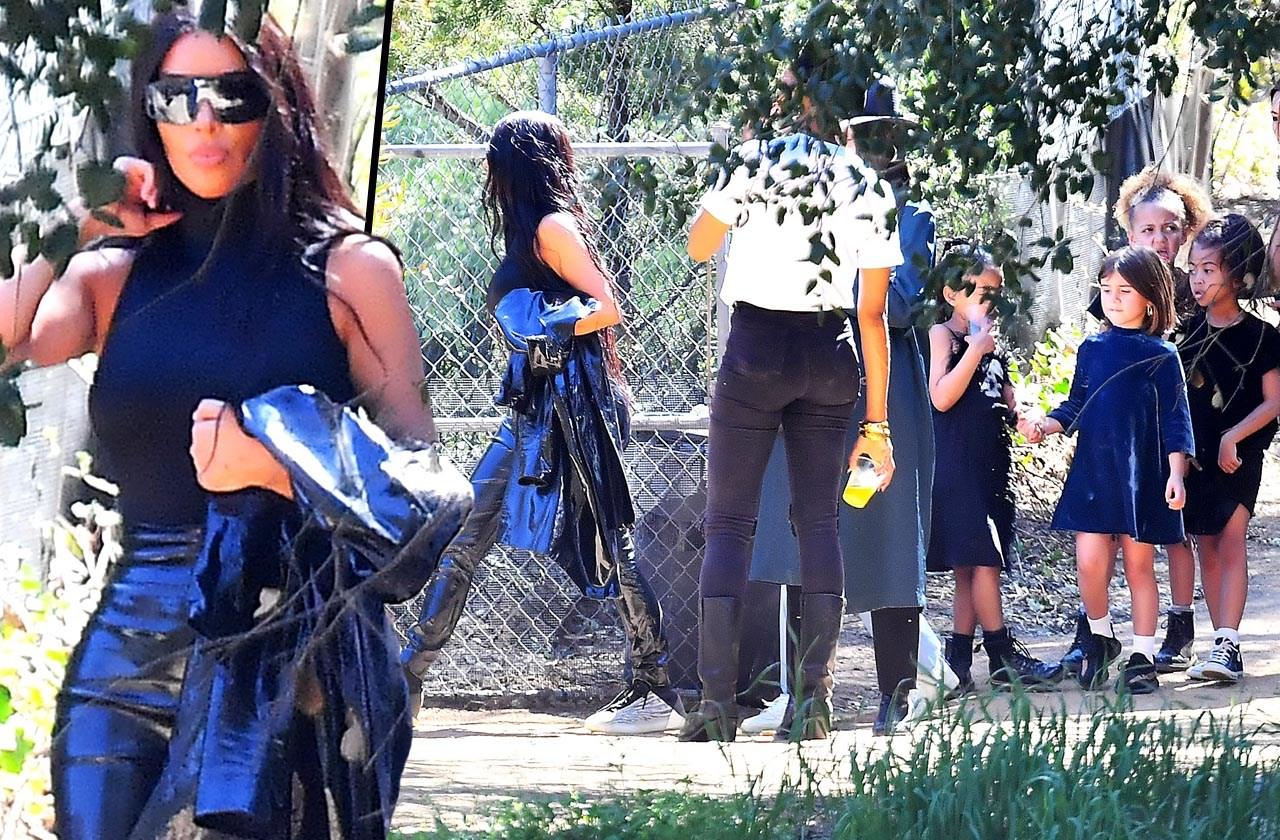 Kim kardashian in leather pants