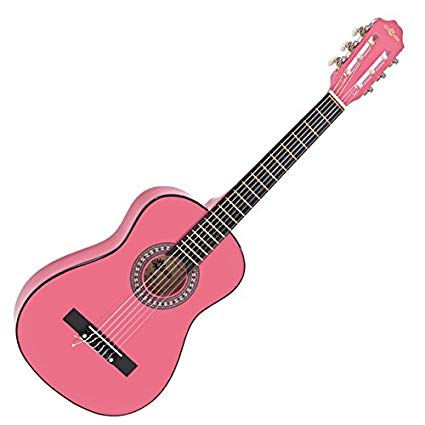 Pink junior guitar