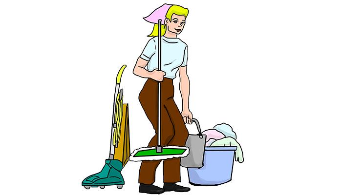 Сонник мыть полы на работе