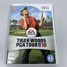 Tiger Woods PGA Tour 10 (Nintendo Wii, 2009) Golf Complete w/ Case & Manual CIB