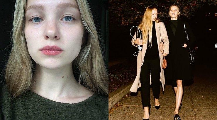 Наталья водянова и сестра