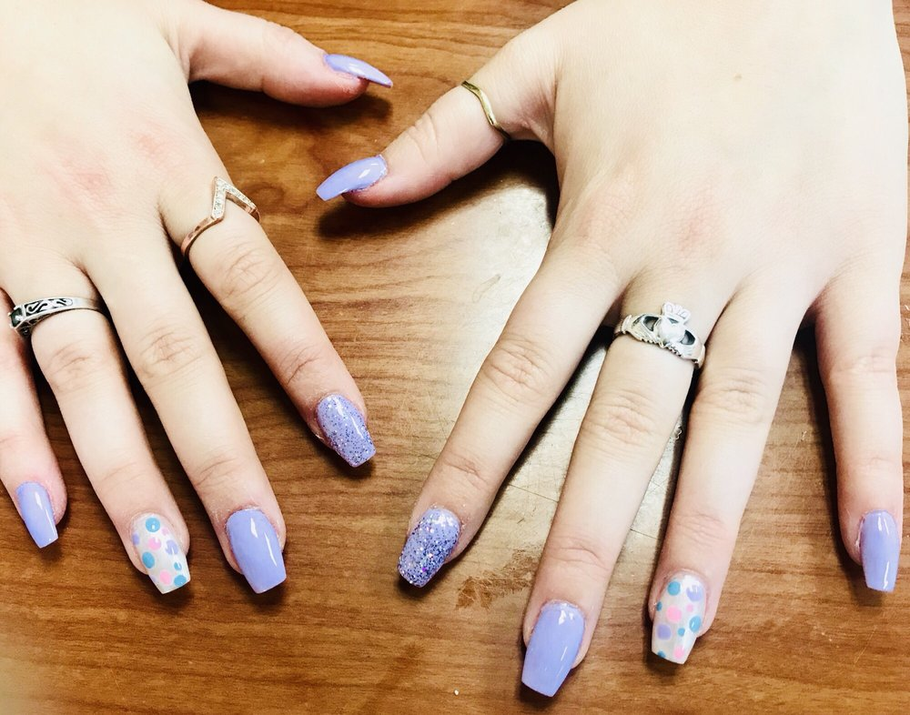 Wild orchid nails