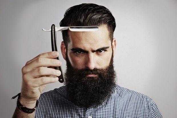 пышная полная борода с усами