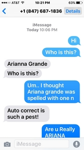 +1 (847) 687-1836 Is her number. I also have Zendaya's. They both text back! Enjoy ?? Ya