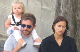 Ирина Шейк и Брэдли Купер проводят каникулы в Париже вместе с дочкой