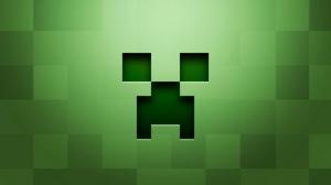 Превью обои minecraft, фон, графика, зелёный