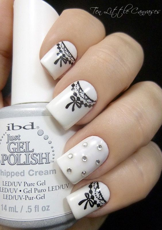 White gel nails pictures