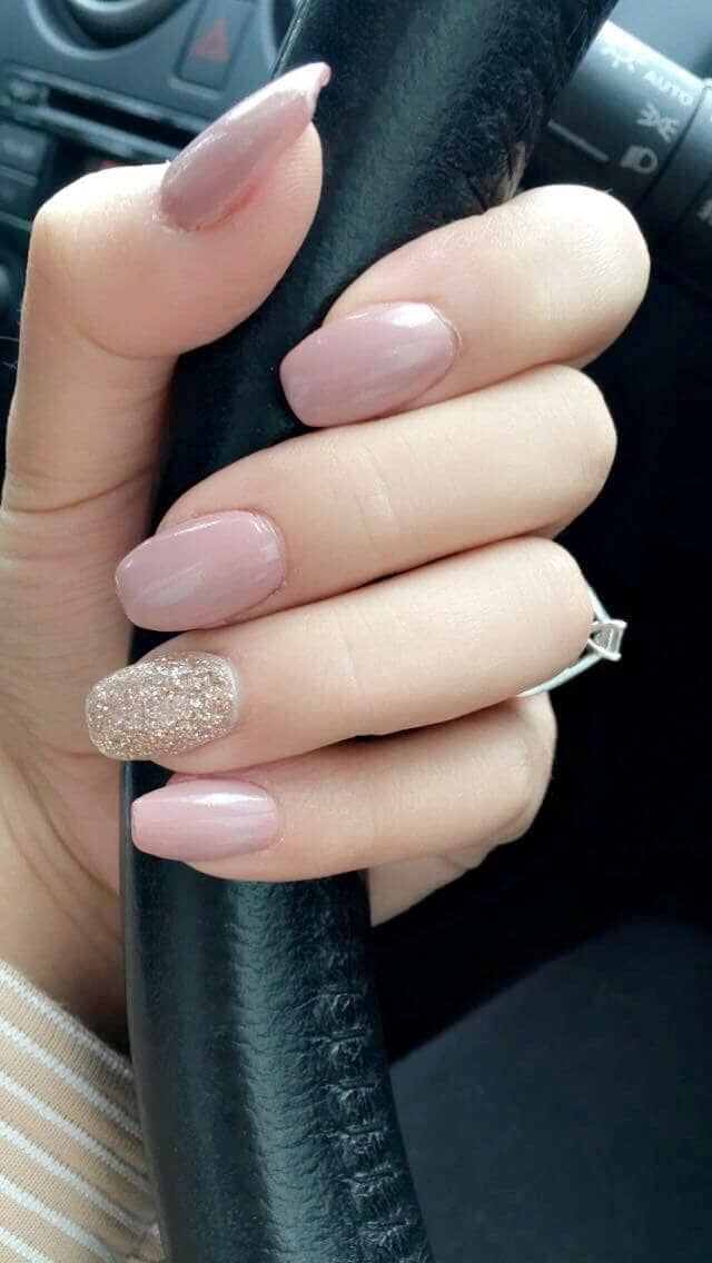Rose Gold Glitter and Pretty Basic Cremes
