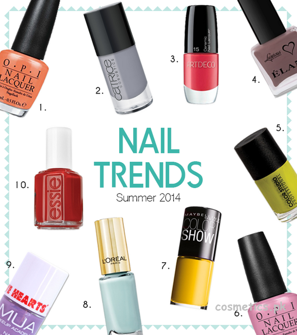 Nails colors for summer 2014