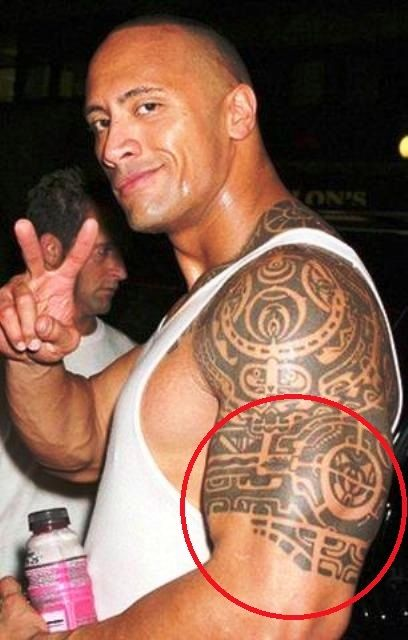 Dwayne Tortoise Shell Tattoo