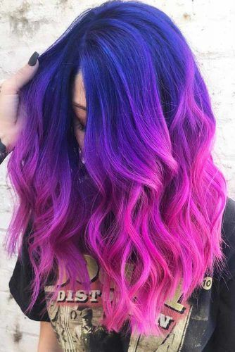 Blonde pink ombre hair