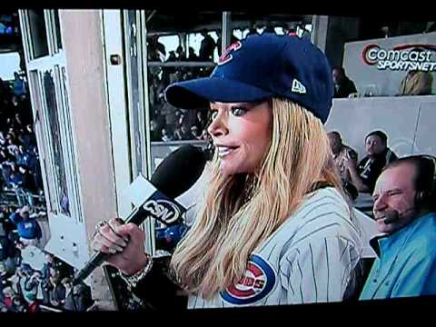 Denise richards at wrigley field